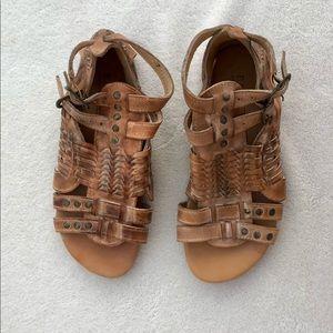 Bed Stu Sandals Woven Leather Shoes Claire Sz. 7